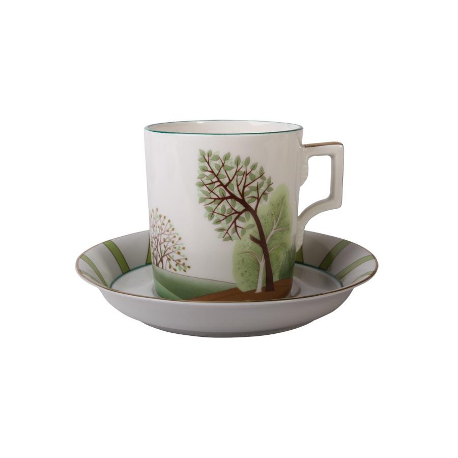Чашка с блюдцем чайная