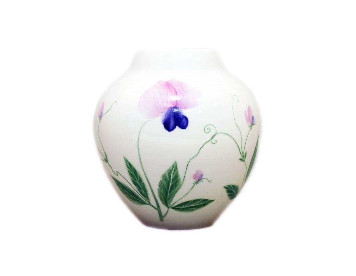 Ваза для цветов Душистый горошекВазы<br><br><br>Material: Фарфор<br>Height см: 12,4<br>Diameter см: 11,8