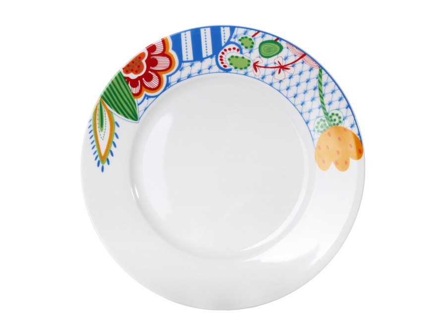 Тарелка ЦветыТарелки<br><br><br>Material: Фарфор<br>Depth см: None<br>Height см: 2,4<br>Diameter см: 26,8