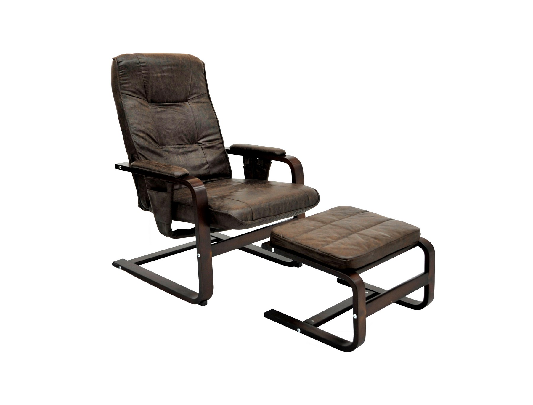 Кресло для отдыха с механизмом и пуфомКресла и стулья для дачного дома<br>&amp;lt;span style=&amp;quot;line-height: 24.9999px;&amp;quot;&amp;gt;Представляем вашему вниманию эксклюзивную модель коллекции GoodWood. Кресло снабжено мягкими подлокотниками, а также специальным пневмо-механизмом. Спинку кресла можно плавно откинуть, сиденье при этом выдвигается вперед и приобретает форму шезлонга. Необычная расцветка данной модели впишется в любой интерьер. Каркас кресла выполнен из древесины березы, в качестве наполнителя выступает поролон. В комплект также входит пуф.&amp;lt;/span&amp;gt;&amp;lt;div style=&amp;quot;line-height: 24.9999px;&amp;quot;&amp;gt;&amp;lt;br&amp;gt;&amp;lt;/div&amp;gt;&amp;lt;div style=&amp;quot;line-height: 24.9999px;&amp;quot;&amp;gt;Выдерживаемая нагрузка 100 кг&amp;lt;/div&amp;gt;&amp;lt;div style=&amp;quot;line-height: 24.9999px;&amp;quot;&amp;gt;Глубина варьируется от 89 до 97 см, высота от 79 до 105 см&amp;amp;nbsp;&amp;lt;/div&amp;gt;&amp;lt;div style=&amp;quot;line-height: 24.9999px;&amp;quot;&amp;gt;Ширина сидения, cм: 62&amp;lt;/div&amp;gt;&amp;lt;div style=&amp;quot;line-height: 24.9999px;&amp;quot;&amp;gt;Глубина сидения, cм: 50&amp;lt;/div&amp;gt;&amp;lt;div style=&amp;quot;line-height: 24.9999px;&amp;quot;&amp;gt;Высота сидения, cм: 40&amp;lt;/div&amp;gt;&amp;lt;div style=&amp;quot;line-height: 24.9999px;&amp;quot;&amp;gt;Вес, кг: 11,4&amp;lt;/div&amp;gt;<br><br>Material: Кожа<br>Width см: 64<br>Depth см: 97<br>Height см: 105