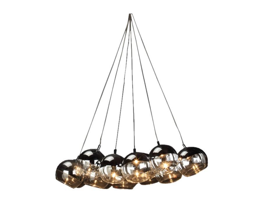 Подвесной светильник Vetraio-10Подвесные светильники<br>Светильники Vetraio изготовлены из стекла и представляют собой шары, подвешенные на нитях. Крепление и корпус изделия выполнены из металла и жгута черного цвета. Десять ламп, висящих на жгутах, создают яркий свет. Такая лампа отличная находка для стильных интерьеров в темном цвете в стиле артдеко или модерн.&amp;lt;div&amp;gt;&amp;lt;br&amp;gt;&amp;lt;/div&amp;gt;&amp;lt;div&amp;gt;&amp;lt;div&amp;gt;Вид цоколя: G4&amp;lt;/div&amp;gt;&amp;lt;div&amp;gt;Мощность лампы: 20W&amp;lt;/div&amp;gt;&amp;lt;div&amp;gt;Количество ламп: 10&amp;lt;br&amp;gt;&amp;lt;span&amp;gt;Наличие ламп в комплекте: есть&amp;lt;/span&amp;gt;&amp;lt;br&amp;gt;&amp;lt;/div&amp;gt;&amp;lt;/div&amp;gt;<br><br>Material: Стекло<br>Height см: 80<br>Diameter см: 40
