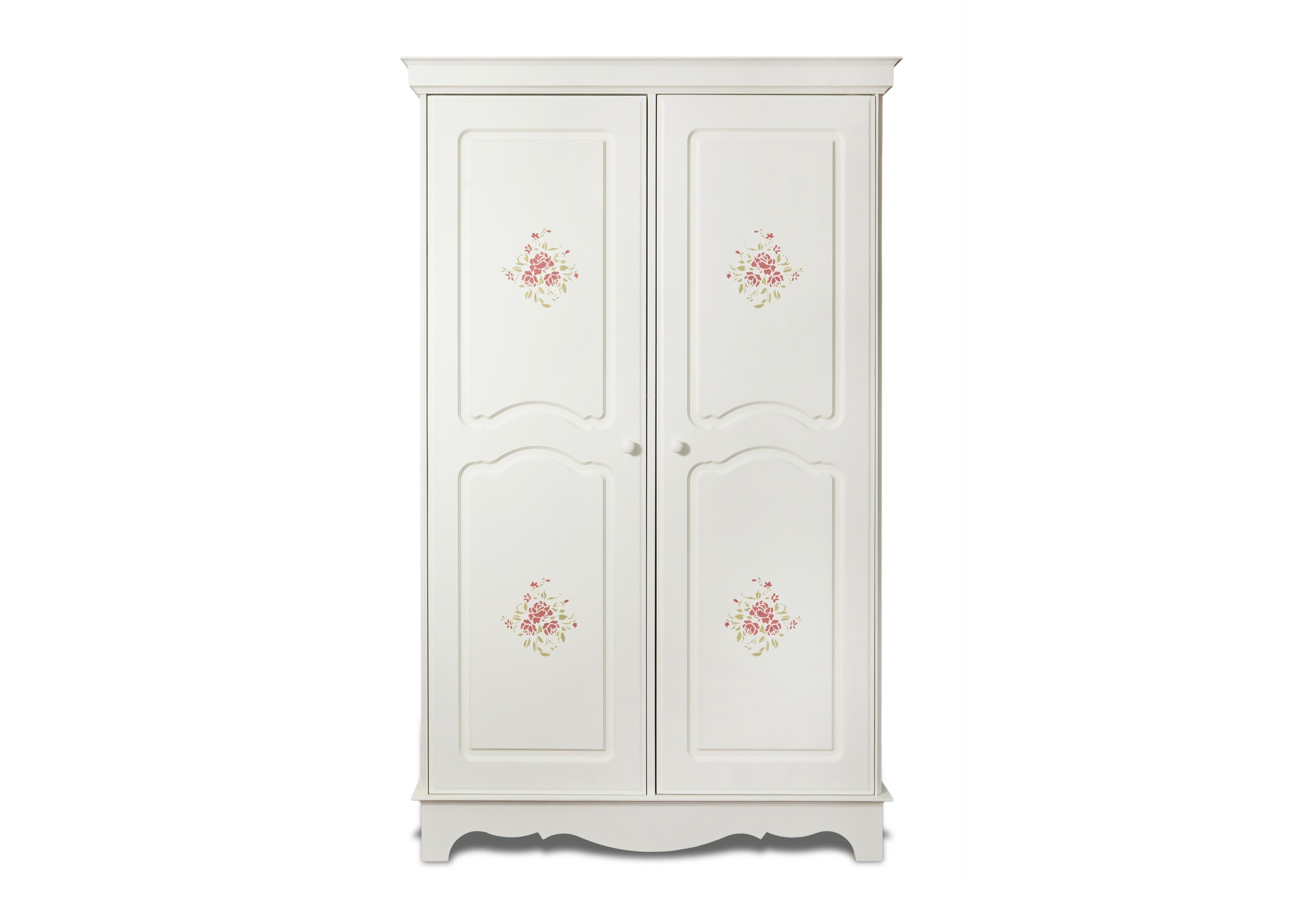 Шкаф Belle Fleur Color?Платяные шкафы<br>Отделка: Belle Fleur Color? - орнамент из роз.&amp;amp;nbsp;<br><br>Material: Береза<br>Width см: 128<br>Depth см: 59,5<br>Height см: 201