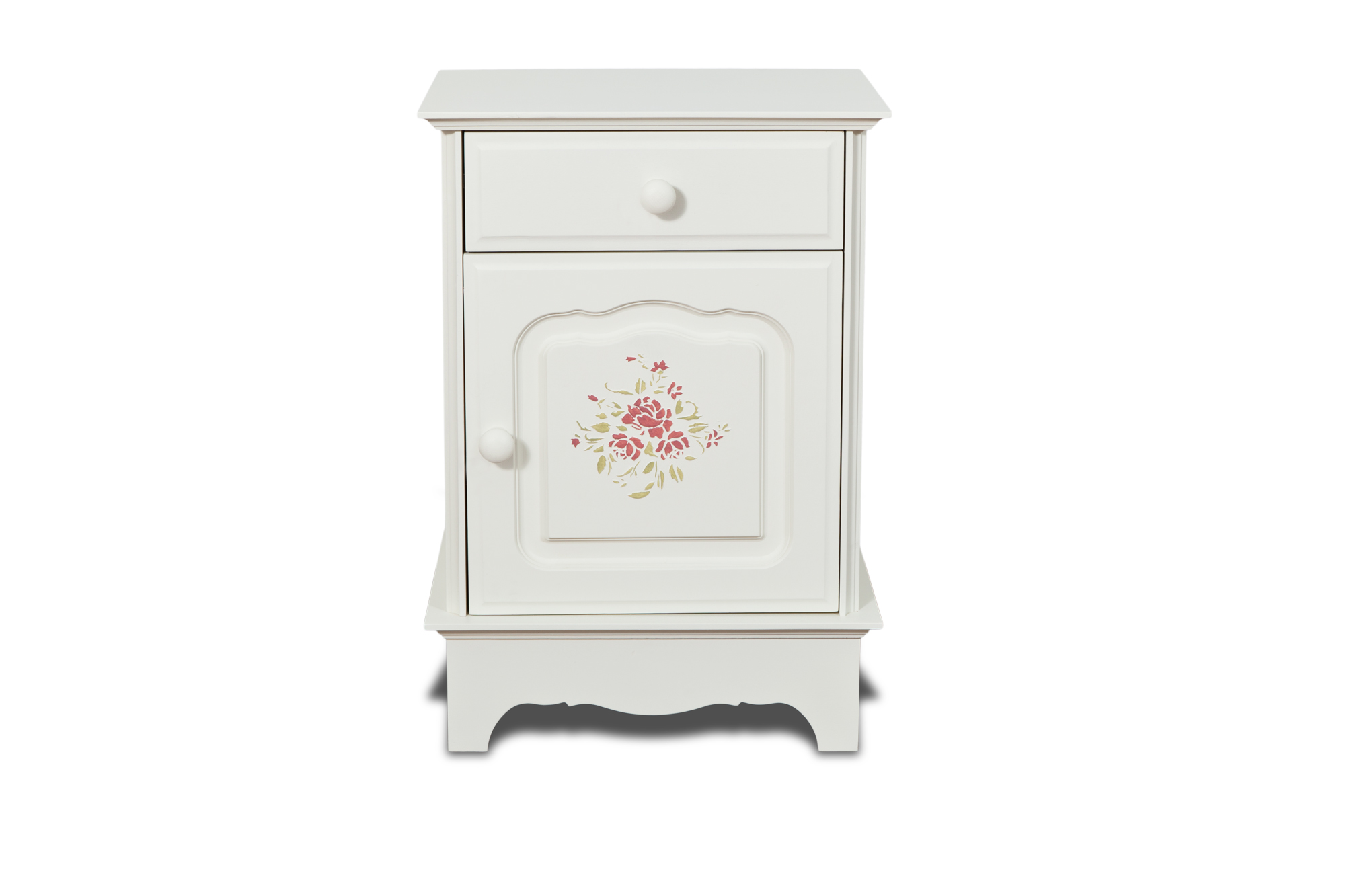 Тумбочка Belle Fleur Color?Прикроватные тумбы, комоды, столики<br>Отделка: Belle Fleur Color? - орнамент из роз.<br><br>Material: Береза<br>Width см: 45<br>Depth см: 32,5<br>Height см: 65
