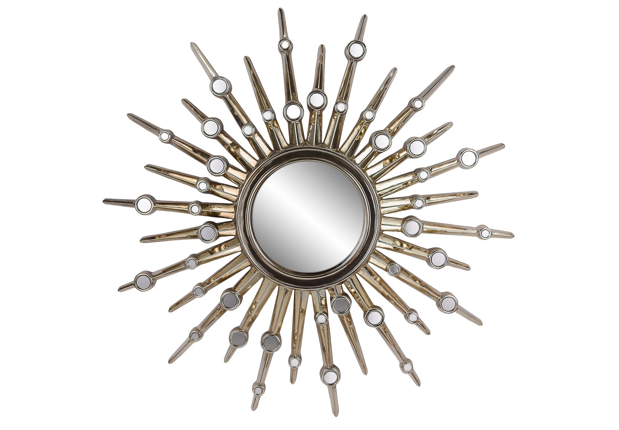 Зеркало-солнце в раме Nova Chrome PlatingНастенные зеркала<br><br><br>Material: Пластик<br>Width см: None<br>Depth см: 4<br>Height см: None<br>Diameter см: 104