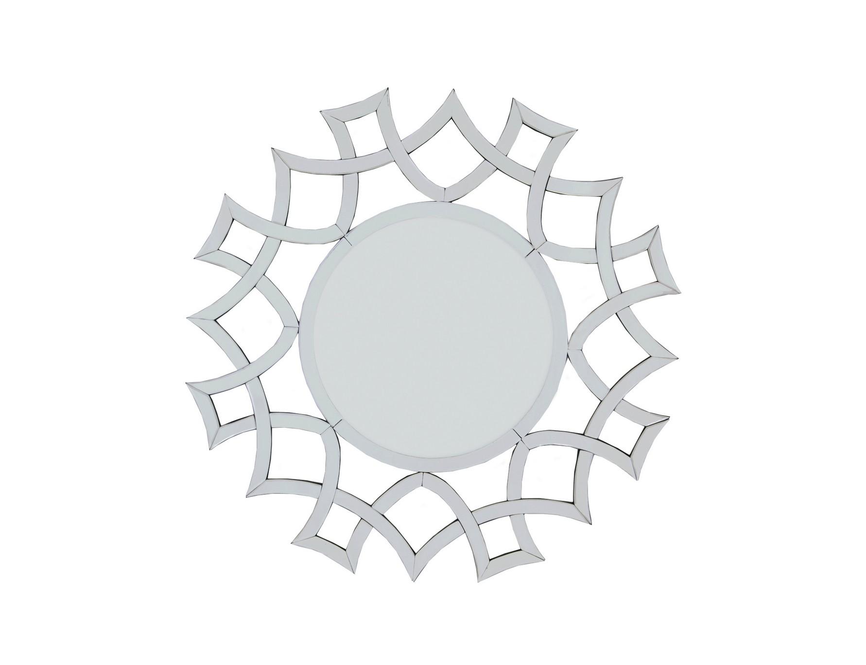 Зеркало DemetriaНастенные зеркала<br>Материалы: МДФ, стекло<br><br>Material: МДФ<br>Width см: 100<br>Depth см: 1,9<br>Height см: 100