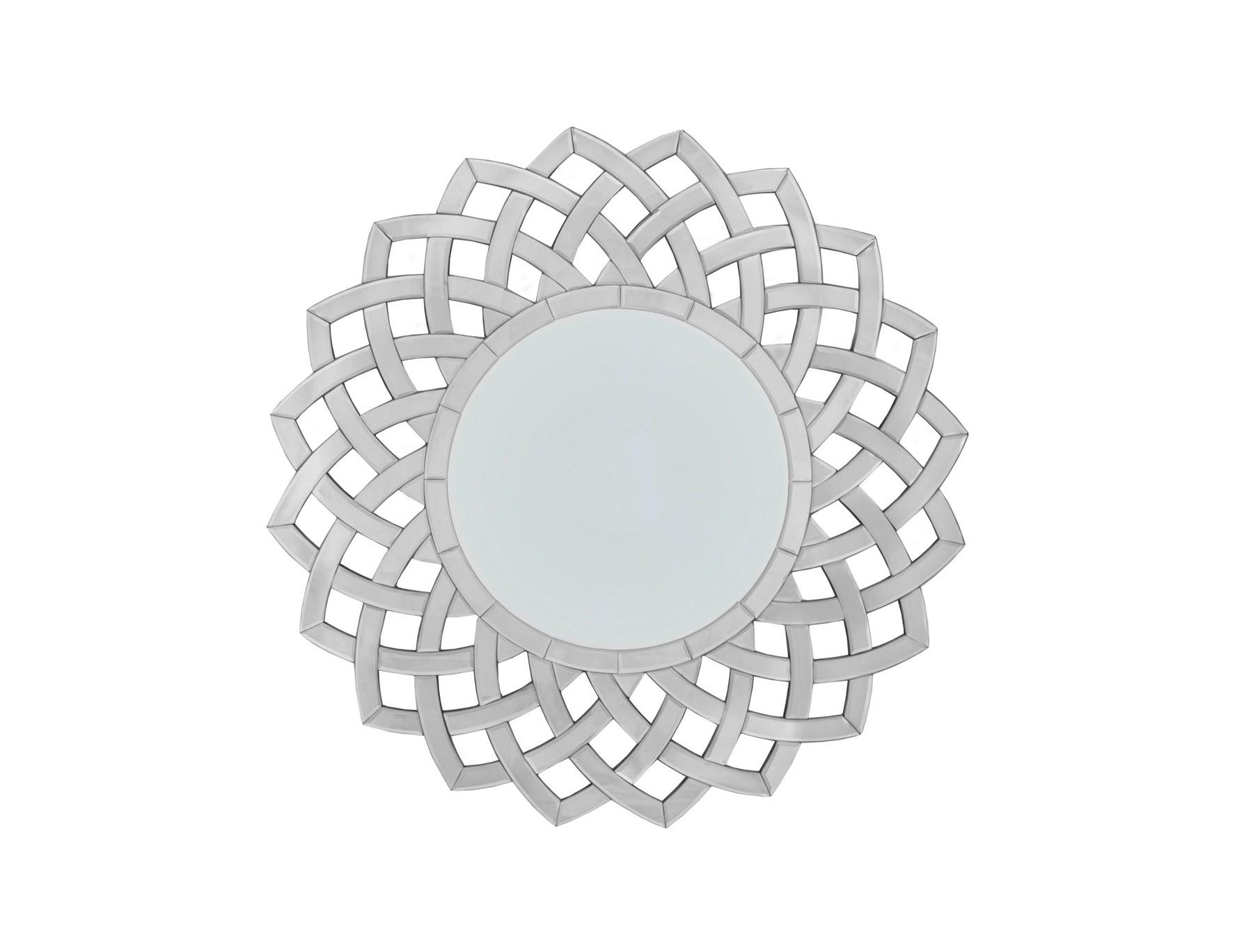 Зеркало TivonaНастенные зеркала<br>Материалы: МДФ, стекло<br><br>Material: МДФ<br>Width см: 89,5<br>Depth см: 1,9<br>Height см: 89,5