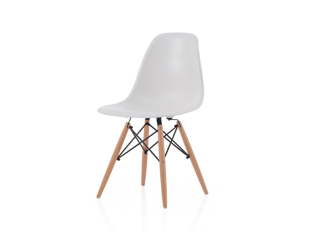 Стул Y-971 белыйОбеденные стулья<br>Материал: Пластик, дерево<br><br>Material: Пластик<br>Ширина см: 55<br>Высота см: 82<br>Глубина см: 46