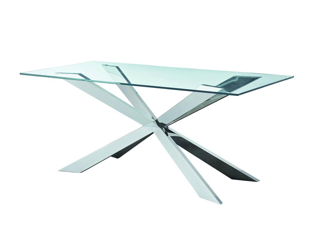 Стол T 088 (160)Обеденные столы<br><br><br>Material: Стекло<br>Width см: 160<br>Depth см: 90<br>Height см: 76