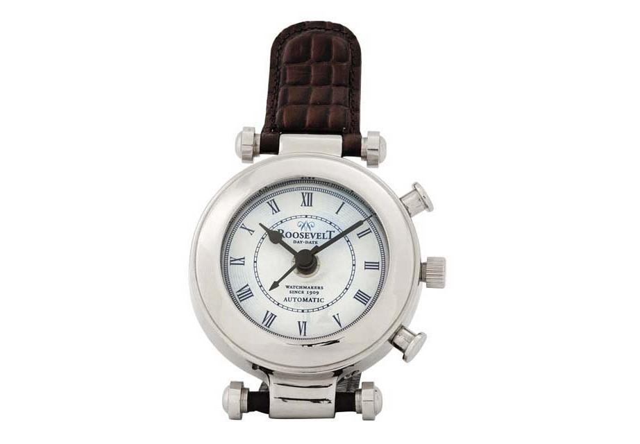 ЧасыНастольные часы<br>Clock Roosevelt - часы настольные. &amp;lt;span style=&amp;quot;line-height: 24.9999px;&amp;quot;&amp;gt;Механизм часов - кварцевый.&amp;lt;/span&amp;gt;<br><br>Material: Кожа<br>Высота см: 18