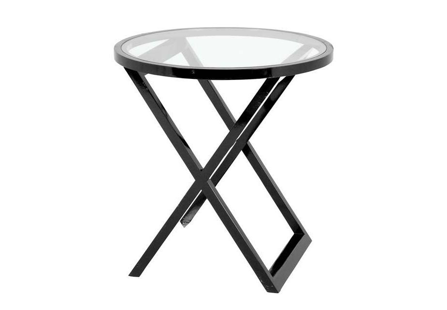 Стол BeaulieuПриставные столики<br>Столешница стеклянная. Основание деревянное.<br><br>Material: Металл<br>Height см: 78<br>Diameter см: 75