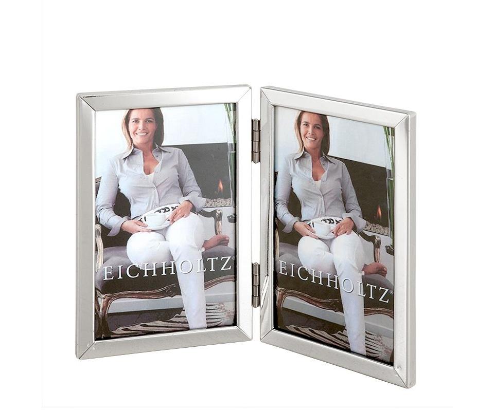 Рамка для фотографий Chapman LРамки для фотографий<br>Фоторамка на две фотографии Chapman L с никелированной рамкой и прозрачным стеклом.<br><br>Material: Металл<br>Width см: 13<br>Depth см: 1<br>Height см: 18