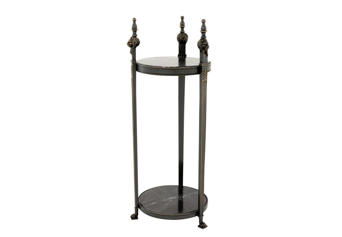 Стол AgnelliПриставные столики<br>Столик из коллекции Side Table Agnelli выполнен из металла цвета темная бронза.&amp;amp;nbsp;&amp;lt;div&amp;gt;Столешница и основание выполнены из мрамора черного цвета.&amp;lt;/div&amp;gt;<br><br>Material: Металл<br>Height см: 70<br>Diameter см: 25