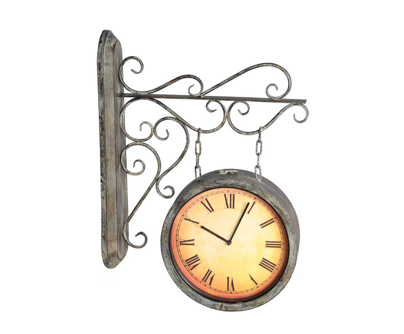 Часы настенныеНастенные часы<br>Кварцевый механизм, работают от батарейки типа АА.<br><br>Material: Металл<br>Width см: 40<br>Depth см: 11<br>Height см: 52,5