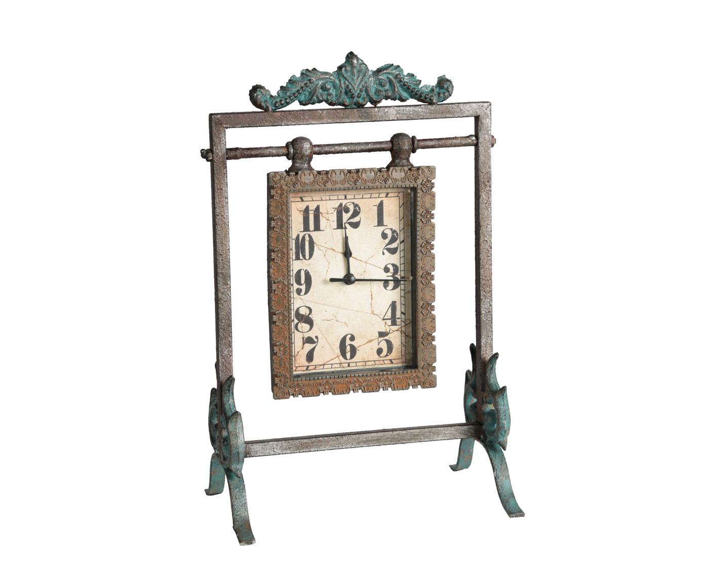 ЧасыНастольные часы<br>Кварцевый механизм, работают от батарейки типа АА.<br><br>Material: Металл<br>Width см: 21,5<br>Depth см: 13,5<br>Height см: 32,5
