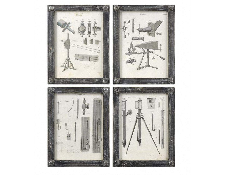 Постеры (4 шт)Постеры<br>Постеры под стеклом, комплект из 4-х штук.<br><br>Material: Бумага<br>Width см: 26<br>Depth см: 3<br>Height см: 33