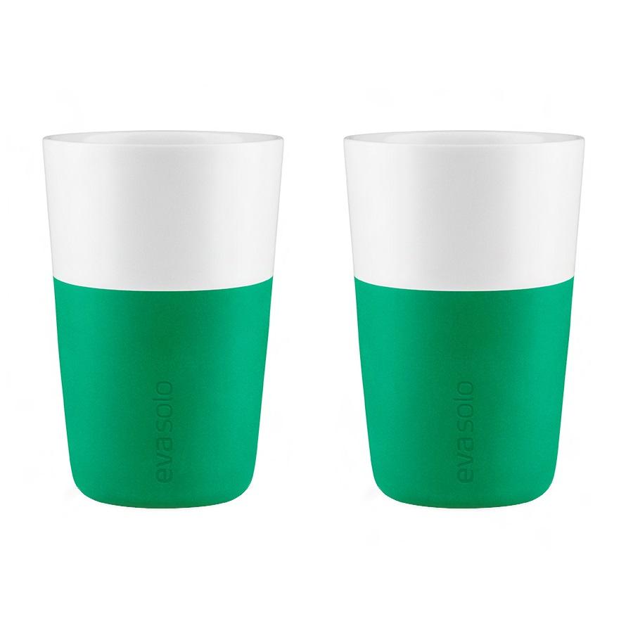 Набор чашек LatteЧайные пары, чашки и кружки<br>Дизайнеры Eva Solo разработали новые стаканы различной емкости для трех самых популярных видов кофе: эспрессо (80 мл), лунго (230 мл) и латте (360 мл). В них помещается именно то количество молока и пены, которое соответствует стандартным параметрам в популярных капсульных кофе-машинах. Чаши сделаны из фарфора с силиконовой оболочкой, которая защитит ваши пальцы от ожога. Стаканы можно мыть в посудомоечной машине, предварительно сняв силиконовую часть. В набор входят две чашки.<br><br>Material: Фарфор<br>Высота см: 12