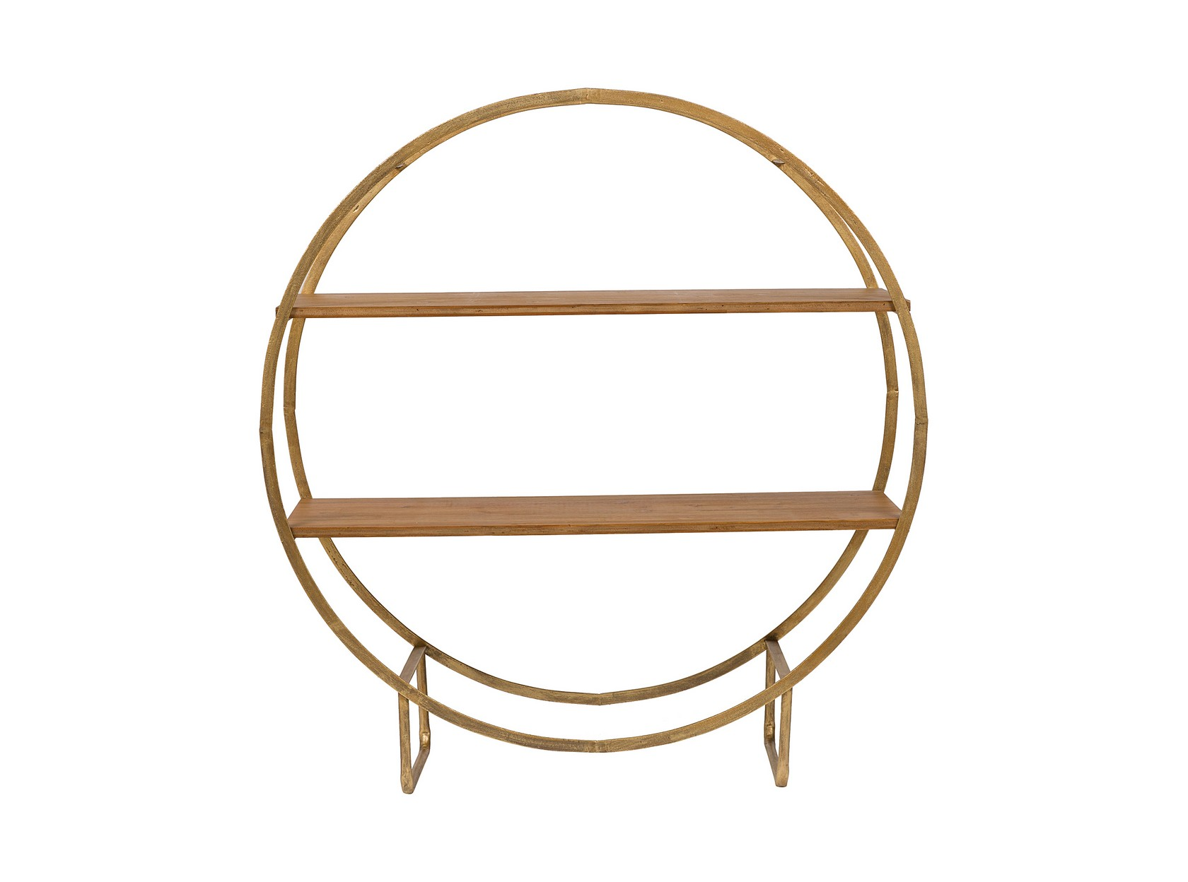 Мини-стеллаж SofiaПолки<br>Металлическая основа и две деревянные полки: этот мини-стеллаж задаст особое настроение кабинету или спальне.&amp;amp;nbsp;<br><br>Material: Металл<br>Width см: 101<br>Depth см: 35<br>Height см: 109