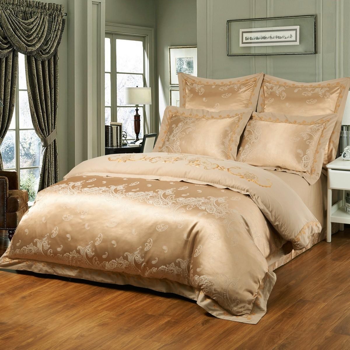 Комплект постельного бельяДвуспальные комплекты постельного белья<br>Роскошное постельное белье для обладателей изысканного вкуса.&amp;lt;div&amp;gt;&amp;lt;br&amp;gt;&amp;lt;div&amp;gt;В комплект входит:&amp;lt;/div&amp;gt;&amp;lt;div&amp;gt;Пододеяльник: 220х200 см (1шт)&amp;amp;nbsp;&amp;lt;/div&amp;gt;&amp;lt;div&amp;gt;Простыня: 230х250 см (1шт)&amp;amp;nbsp;&amp;lt;/div&amp;gt;&amp;lt;div&amp;gt;Наволочки: 50х70 см (2шт); 70х70 см. (2шт)&amp;lt;/div&amp;gt;&amp;lt;/div&amp;gt;<br><br>Material: Сатин<br>Length см: 220<br>Width см: 200