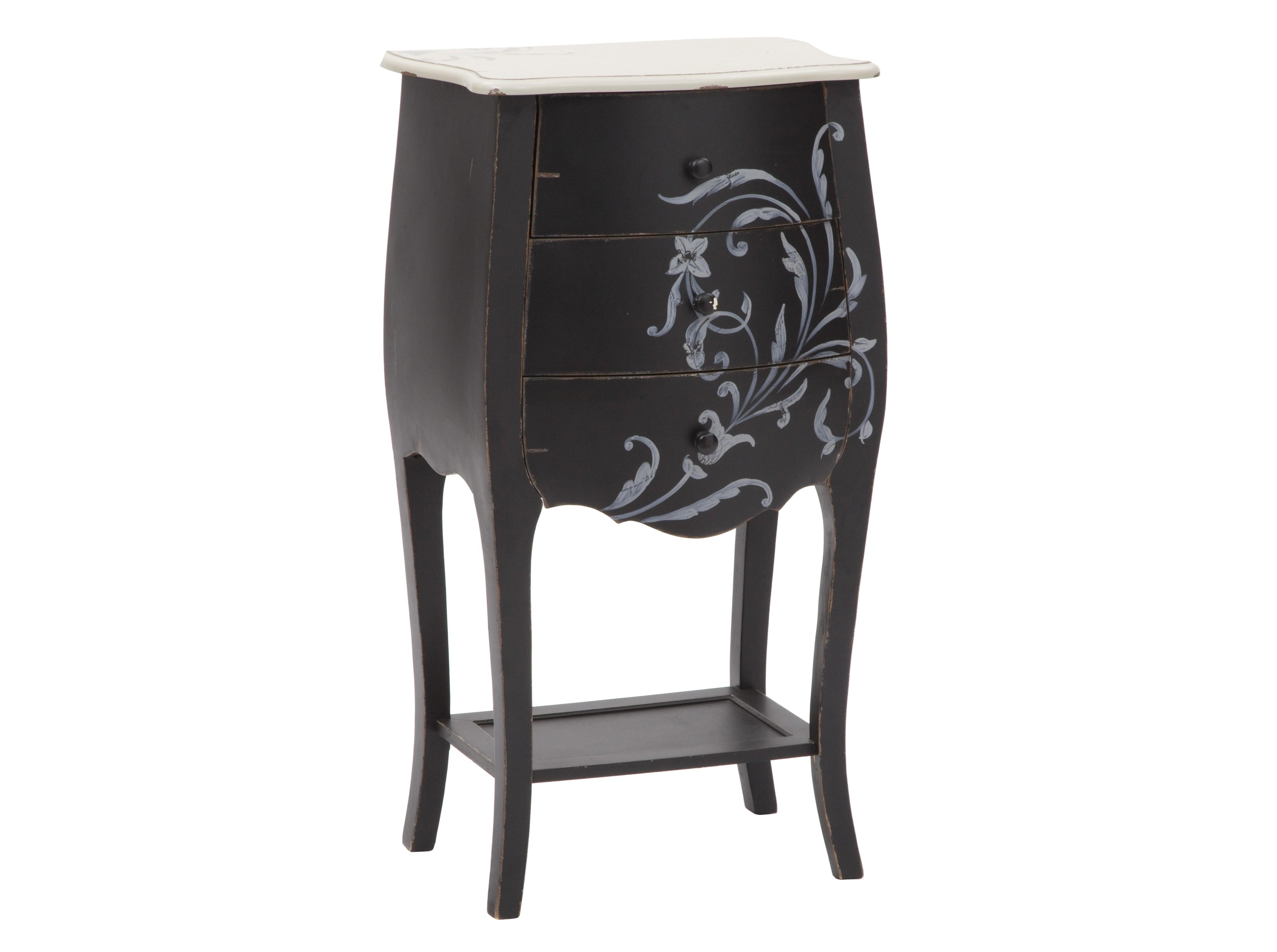 Комод FlowerПрикроватные тумбы, комоды, столики<br>Комод с 3-мя выдвигающимися ящиками сочетает в себе элегантность и роскошь. Столик полностью отвечает требованиям самого искушенного потребителя и его мечтам о хорошей мебели. Прекрасно впишется как в гостиную, так и в спальню.&amp;amp;nbsp;<br><br>Material: Дерево<br>Width см: 48<br>Depth см: 34<br>Height см: 90