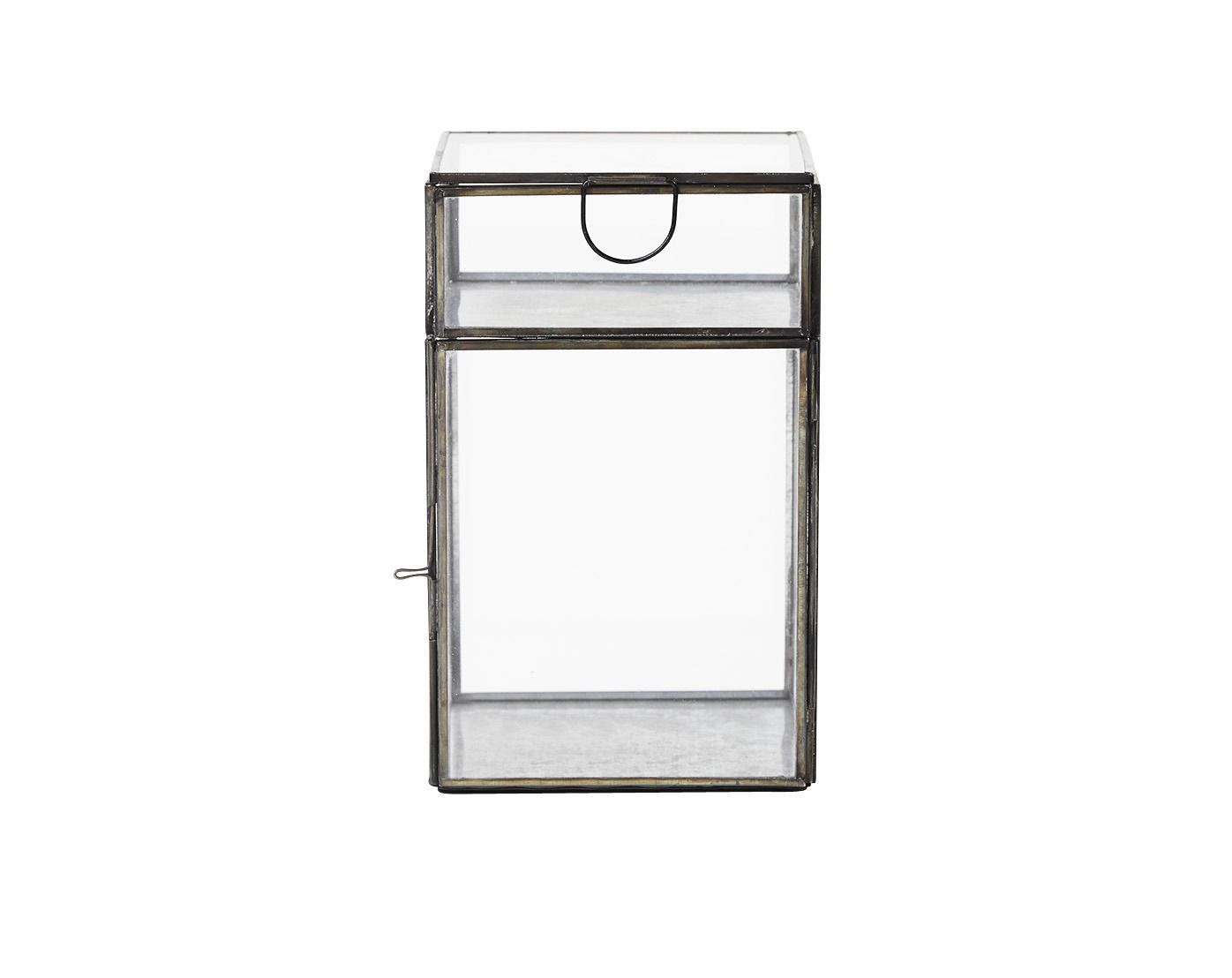Двойная емкость GlassШкатулки<br>Прозрачная емкость для хранения с двумя отделениями.&amp;amp;nbsp;<br><br>Material: Стекло<br>Width см: 13<br>Depth см: 13<br>Height см: 20