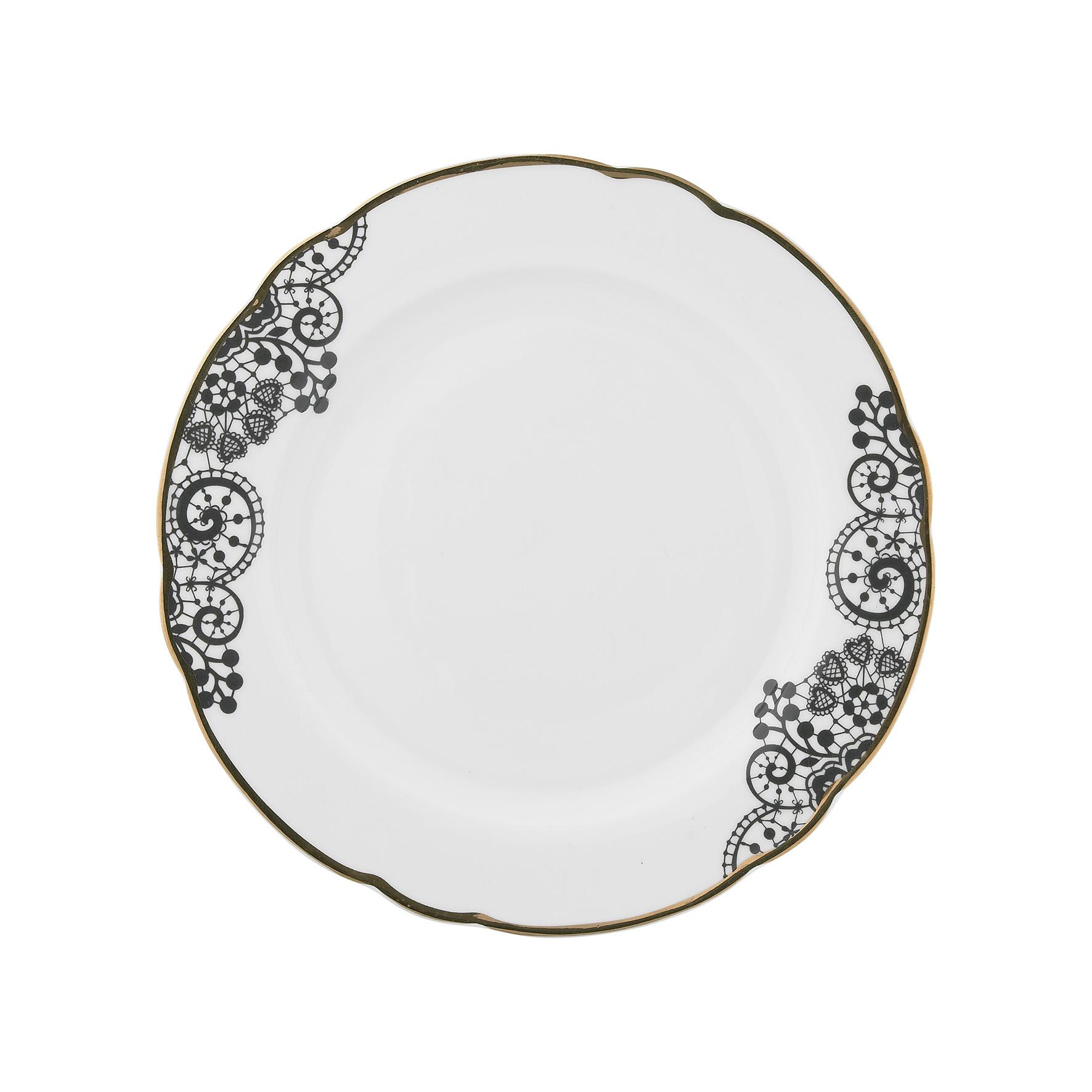 Набор из четырех тарелок MaraisТарелки<br>Набор из четырех тарелок &amp;quot;Marais&amp;quot; с кружевным узором.<br><br>Material: Фарфор<br>Height см: 2<br>Diameter см: 19