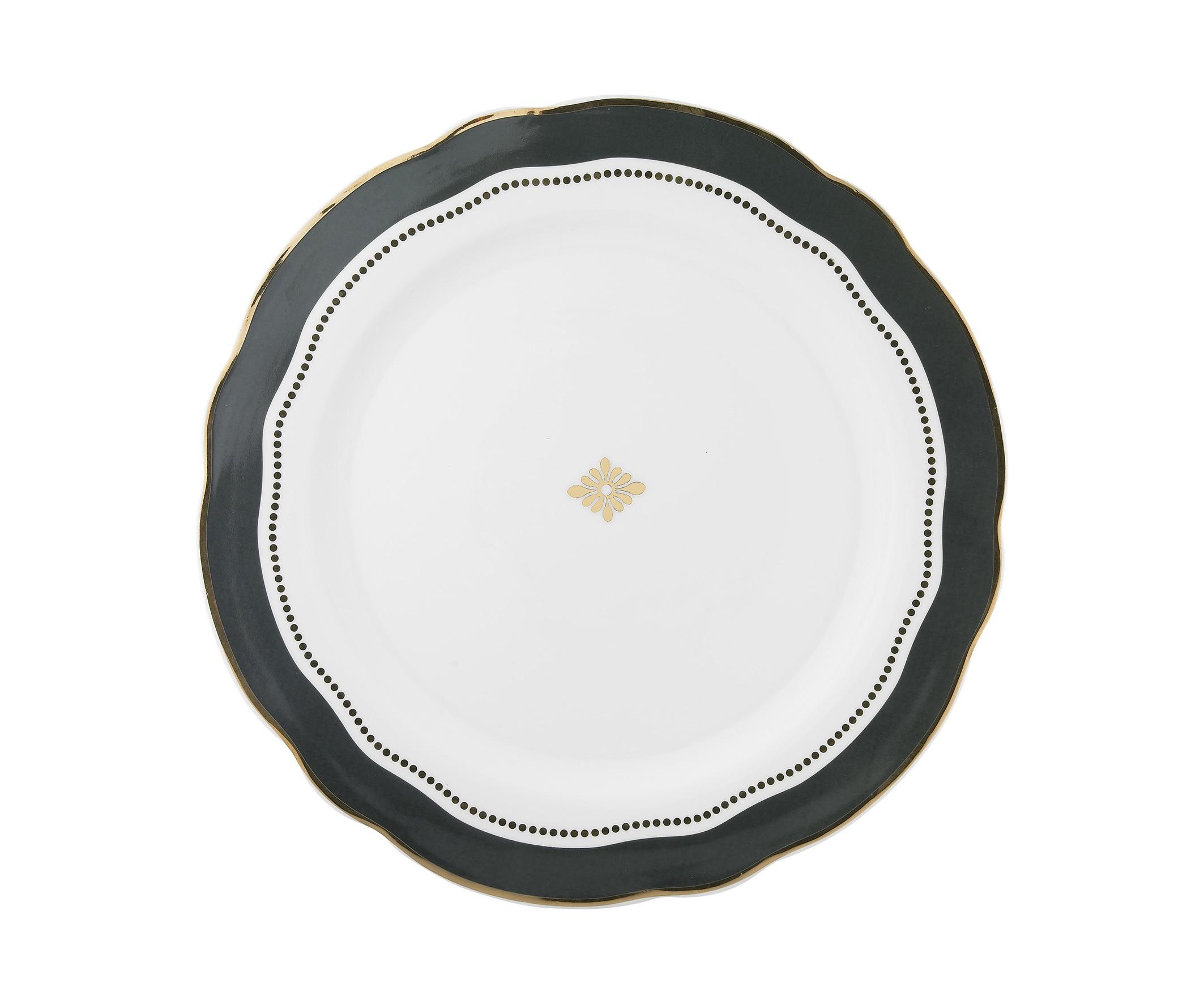 Набор из двух тарелок MaraisТарелки<br>Набор из двух больших тарелок &amp;quot;Marais&amp;quot; для стильного застолья.<br><br>Material: Фарфор<br>Height см: 3<br>Diameter см: 28