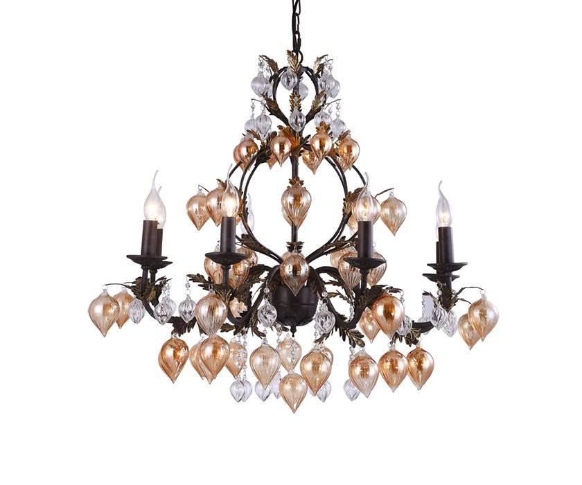Светильник подвеснойЛюстры подвесные<br>&amp;lt;div&amp;gt;Цоколь: E14&amp;lt;/div&amp;gt;&amp;lt;div&amp;gt;Мощность лампы: 40W&amp;lt;/div&amp;gt;&amp;lt;div&amp;gt;Количество ламп: 8&amp;lt;/div&amp;gt;<br><br>Material: Стекло<br>Высота см: 60