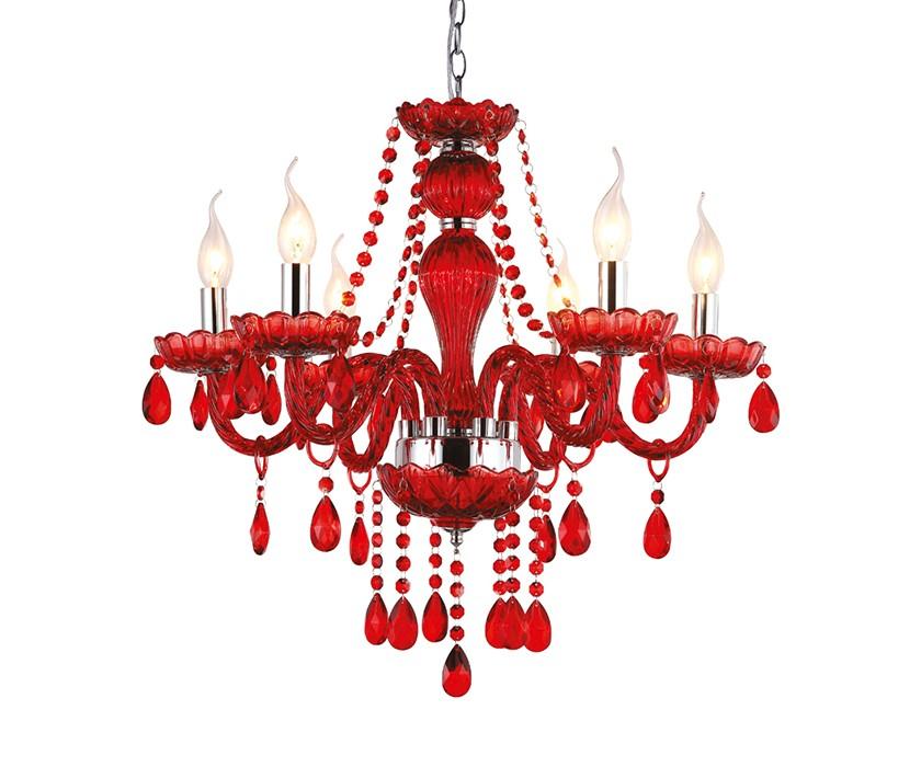 Светильник подвесной (arte lamp) красный 56 см. фото