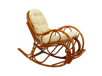 Кресло-качалка с подножкой (ecogarden) коричневый 60x100x127 см.