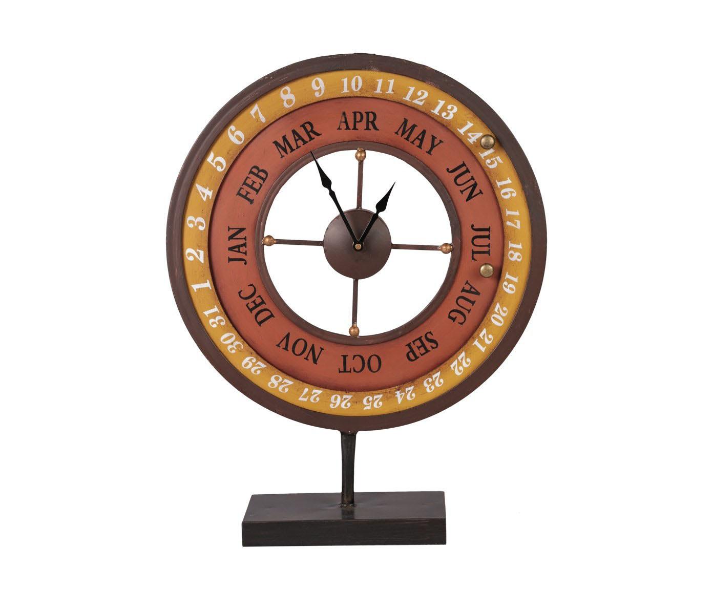 Часы - календарьНастольные часы<br>Оригинальные часы, которые с легкостью можно назвать два в одном. Так как они используются не только как часы , но и как календарь.&amp;amp;nbsp;&amp;lt;div&amp;gt;&amp;lt;span style=&amp;quot;line-height: 1.78571;&amp;quot;&amp;gt;Кварцевый механизм, работают от батарейки типа АА.&amp;lt;/span&amp;gt;&amp;lt;br&amp;gt;&amp;lt;/div&amp;gt;<br><br>Material: Металл<br>Width см: 47<br>Depth см: 12<br>Height см: 60,5