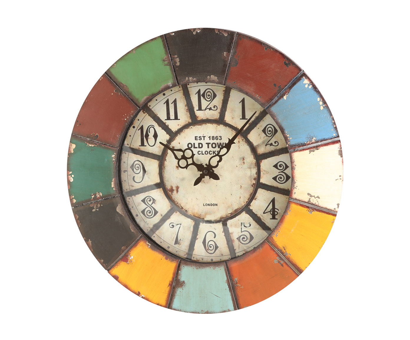 Часы настенныеНастенные часы<br>Кварцевый механизм, работают от батарейки типа АА.<br><br>Material: Металл<br>Depth см: 6<br>Diameter см: 47