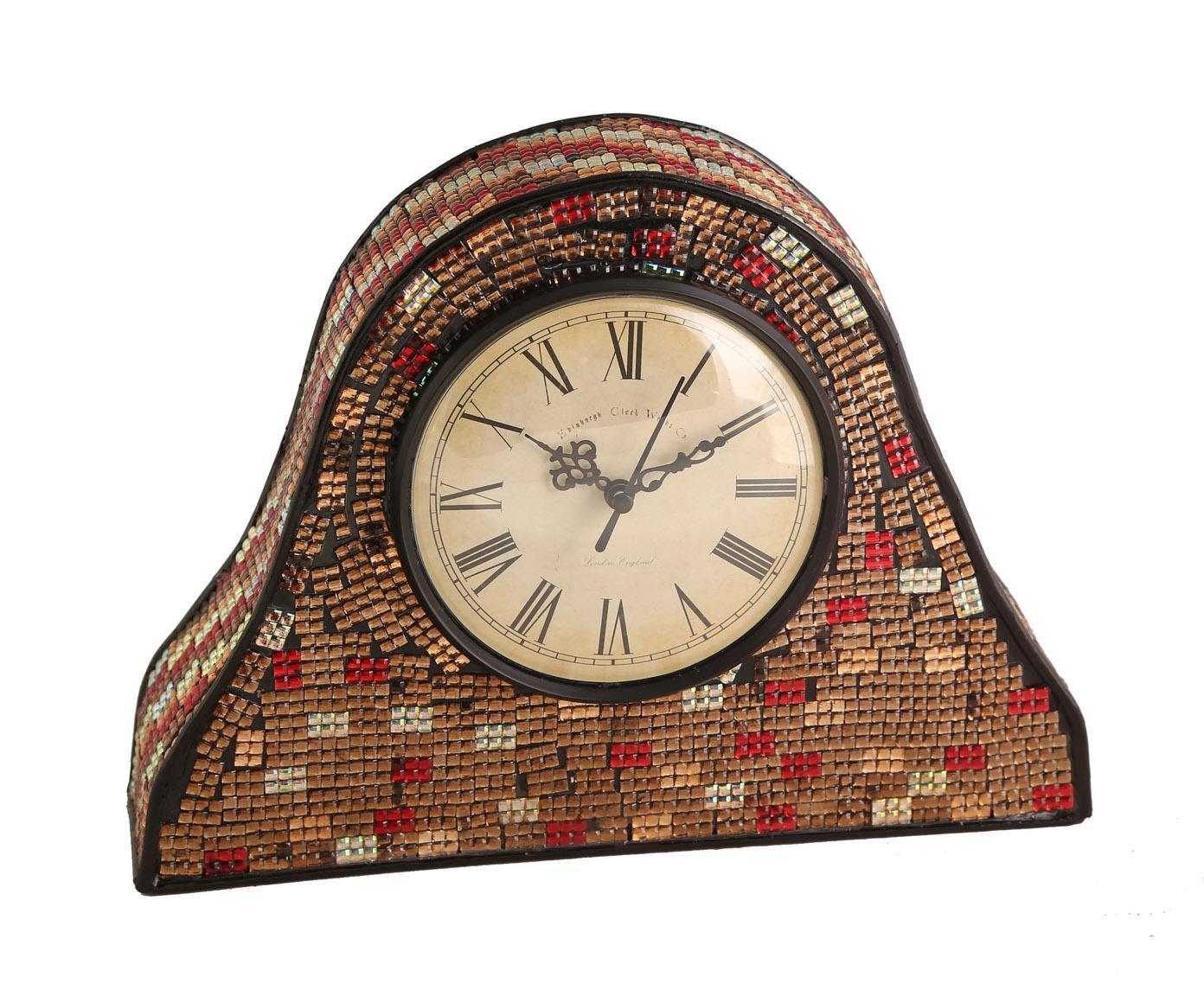 Часы настольныеНастольные часы<br>Дизайнерские часы с кварцевым механизмом. Работают от батарейки типа АА, каркас из металла,отличаются оригинальностью и неповторимостью форм и красок.<br><br>Material: Металл<br>Width см: 28<br>Depth см: 8<br>Height см: 21