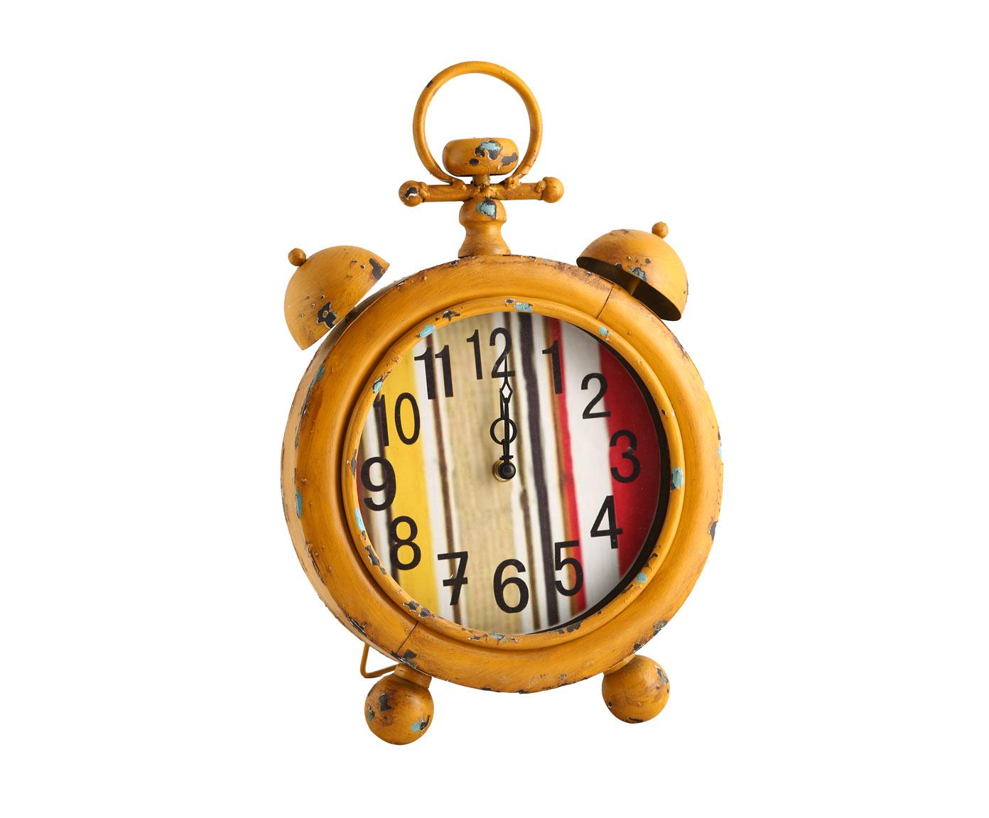 Часы настольныеНастольные часы<br>Дизайнерские часы с кварцевым механизмом. Работают от батарейки типа АА, отличаются оригинальностью и неповторимостью форм и красок.<br><br>Material: Металл<br>Width см: 27<br>Depth см: 7<br>Height см: 47