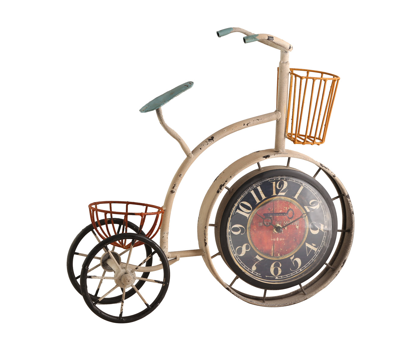 Часы настольныеНастольные часы<br>Кварцевый механизм, работают от батарейки типа АА.<br><br>Material: Металл<br>Width см: 46<br>Depth см: 14<br>Height см: 45