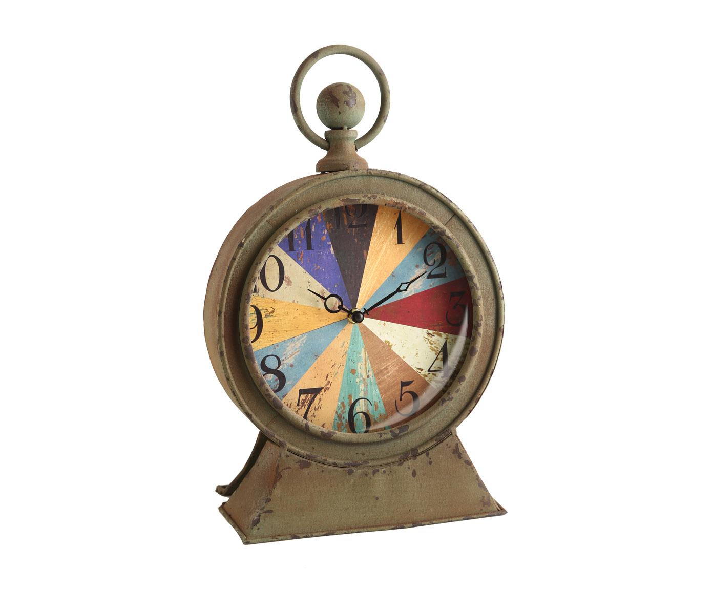 Часы настольныеНастольные часы<br>Кварцевый механизм, работают от батарейки типа АА<br><br>Material: Металл<br>Width см: 24<br>Depth см: 13<br>Height см: 40
