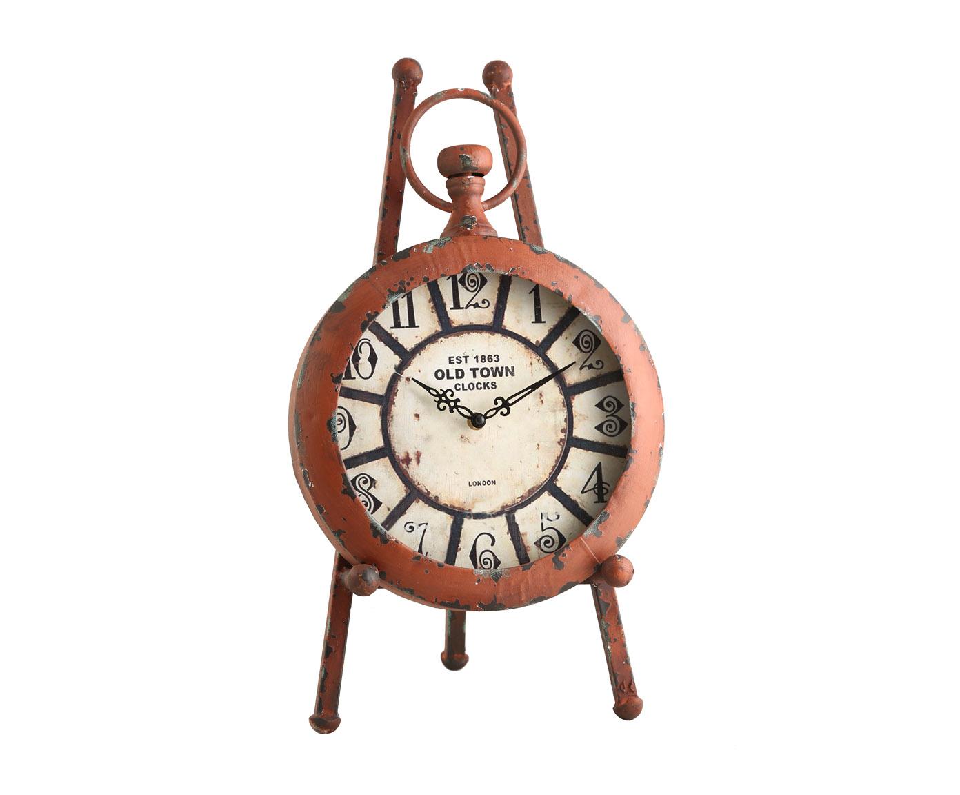 Часы настольныеНастольные часы<br>кварцевый механизм, работают от батарейки типа АА<br><br>Material: Металл<br>Width см: 35<br>Depth см: 8<br>Height см: 50