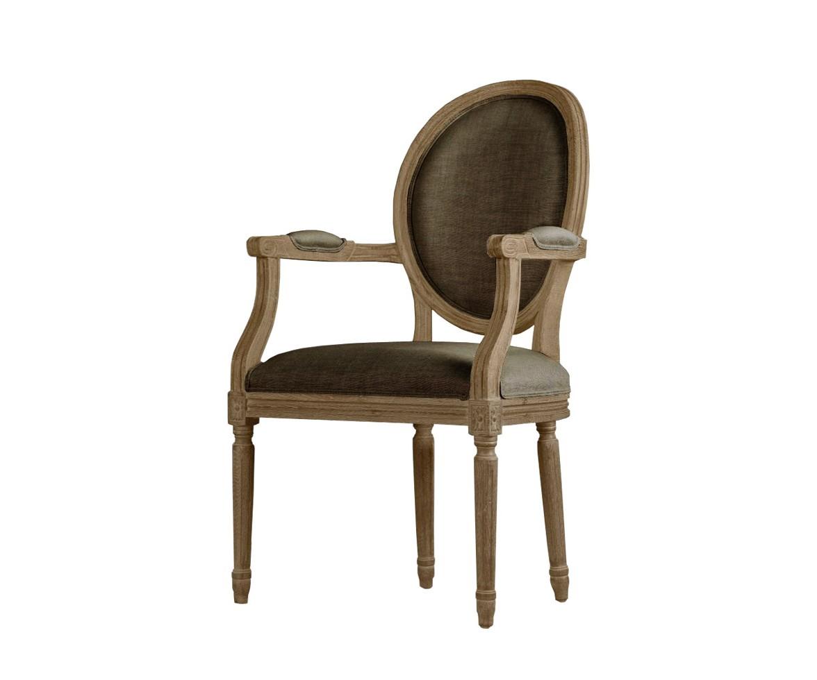 Стул с подлокотниками Louis arm chairСтулья с подлокотниками<br><br><br>Material: Дерево<br>Ширина см: 59<br>Высота см: 102<br>Глубина см: 61