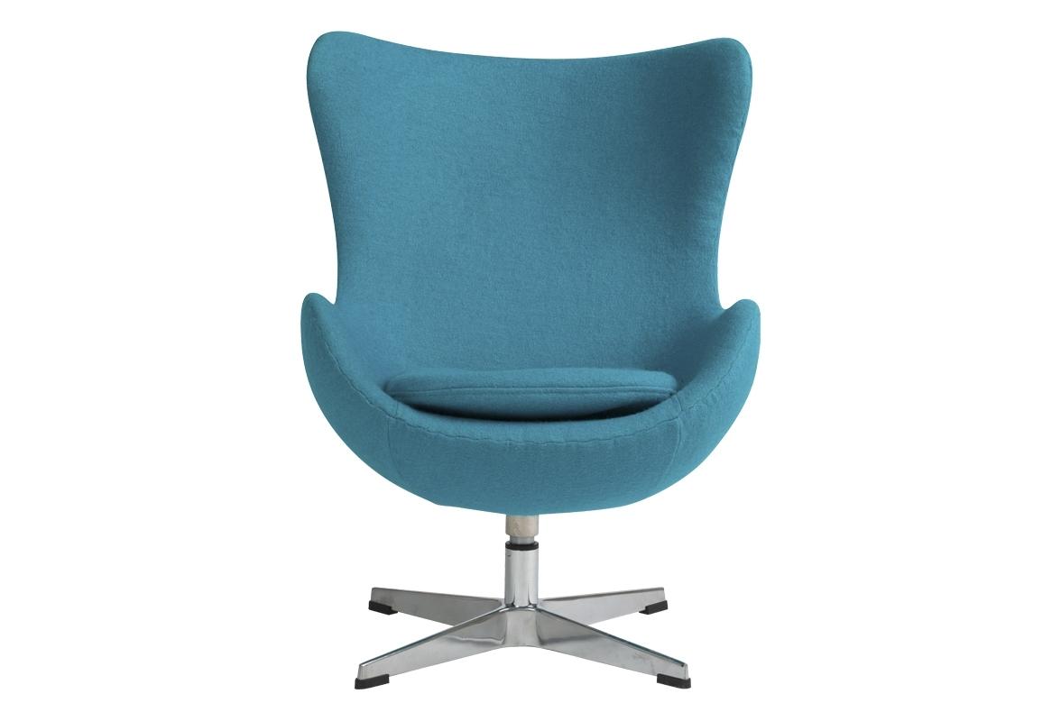 Детское кресло Egg ChairИнтерьерные кресла<br>Детское кресло Egg Chair (Яйцо) от знаменитого датского дизайнера  Арне Якобсена (Arne Jacobsen) — стильное кресло для маленьких, но очень важных людей. Модель выполнена на ножке из нержавеющей стали, покрыта тканью голубого цвета, наполнитель поролон, со съемной подушкой. Удобный аксессуар для современного стиля гостиной. Благодаря своей уникальной форме кресло Egg Chair предоставляет ощущение уюта и защищенности. Ваш малыш создаст в нем свой собственный маленький мир.<br><br>Material: Шерсть<br>Width см: 61<br>Depth см: 59<br>Height см: 73