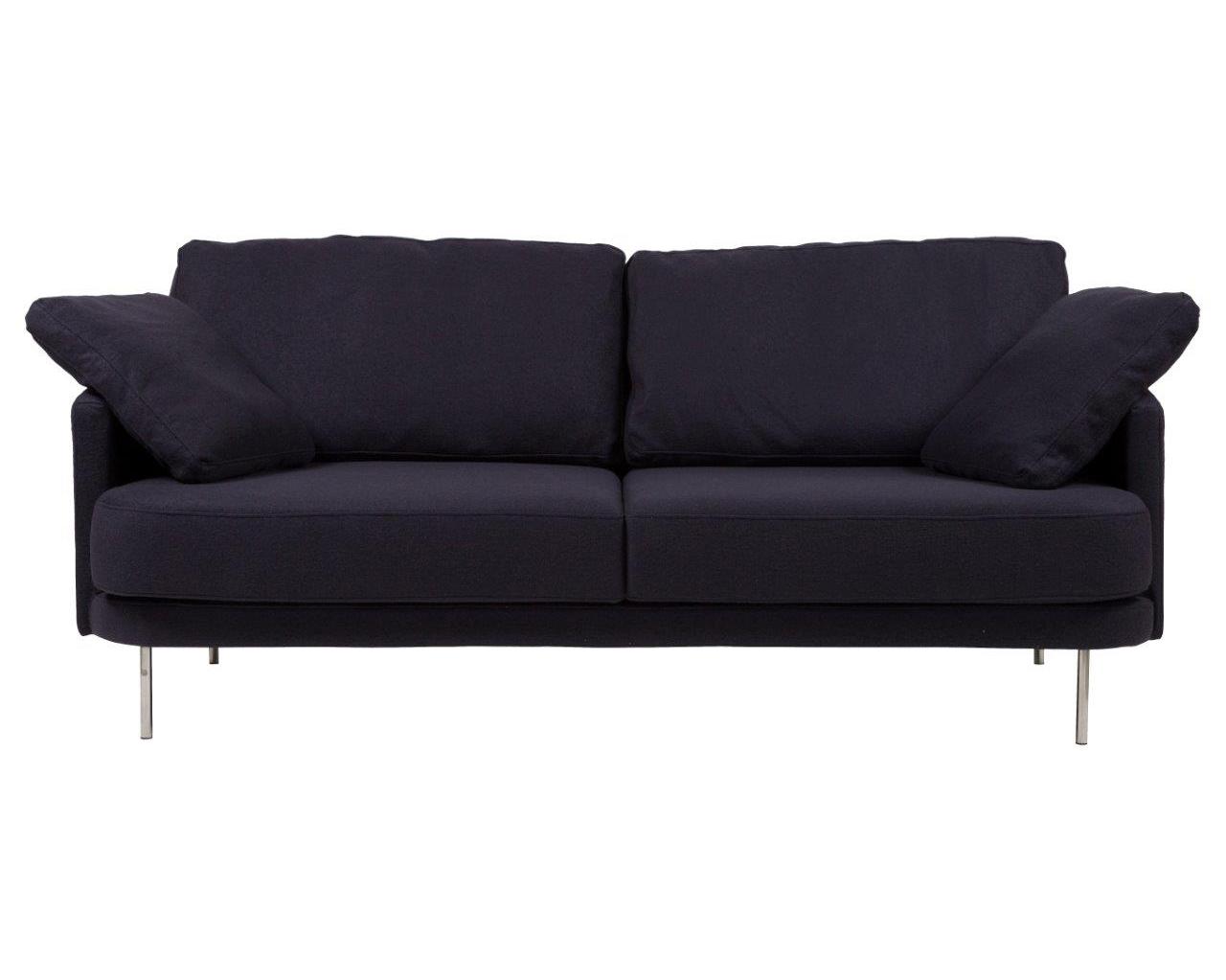 Диван Camber SofaТрехместные диваны<br>Диван Camber Sofa придется по вкусу тем, кто любит принимать гостей. Элегантная модель выполнена в минималистическом стиле, идеальна для лаконичного и в меру строгого интерьера. Прямоугольные формы деревянного каркаса и тонкие ножки из нержавеющей стали создают современный образ. Текстильная обивка из шерсти графитового цвета добавит в пространство тепла и уюта. Такой диван прекрасно впишется как в сдержанный «скандинавский» интерьер, так и уравновесит любые яркие и смелые решения.<br><br>Material: Текстиль<br>Ширина см: 206<br>Высота см: 81<br>Глубина см: 93