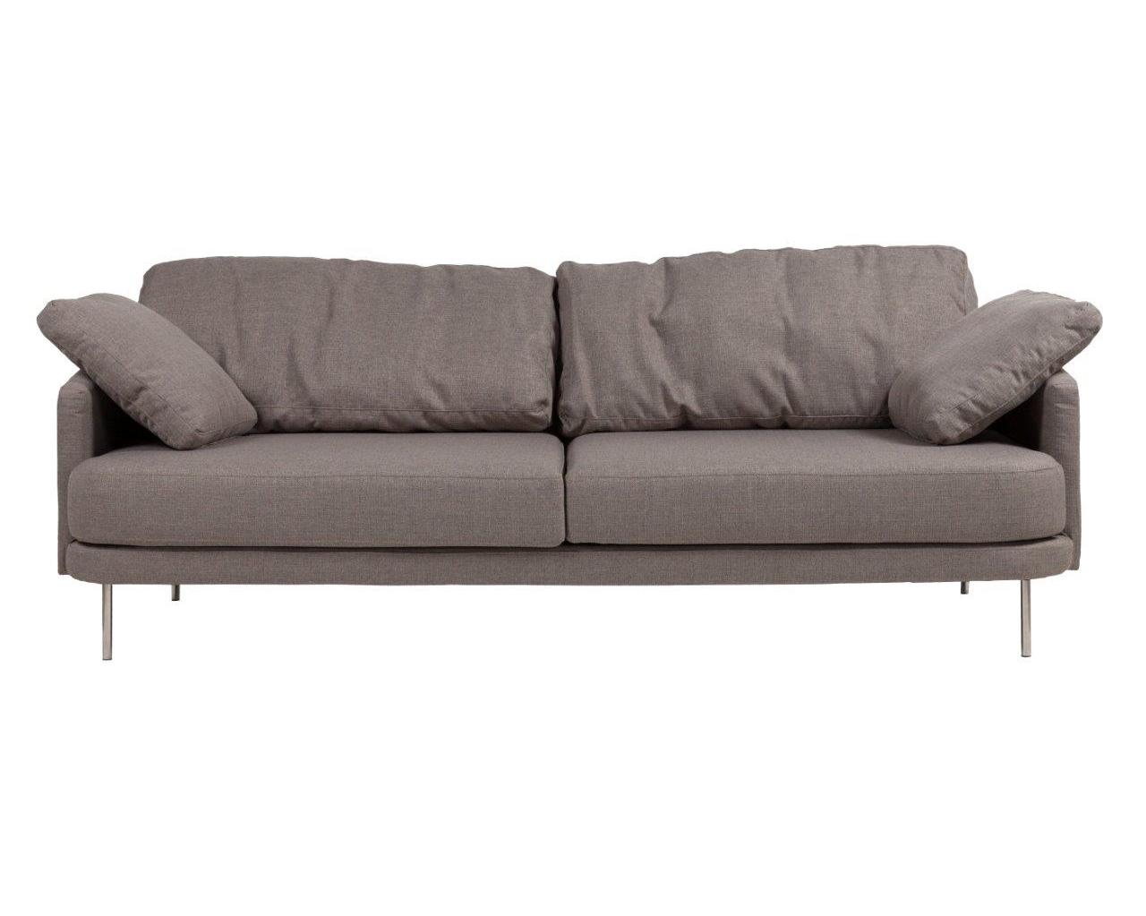 Диван Camber SofaТрехместные диваны<br>Диван Camber Sofa придется по вкусу тем, кто любит принимать гостей. Элегантная модель выполнена в минималистичном стиле, идеальна для лаконичного и в меру строгого интерьера. Прямоугольные формы деревянного каркаса и тонкие ножки из нержавеющей стали создают современный образ. Текстильная обивка из шерсти серо-коричневого цвета добавит в пространство тепла и уюта. Такой диван прекрасно впишется как в сдержанный «скандинавский» интерьер, так и уравновесит любые яркие и смелые решения.<br><br>Material: Текстиль<br>Width см: 236<br>Depth см: 93<br>Height см: 81