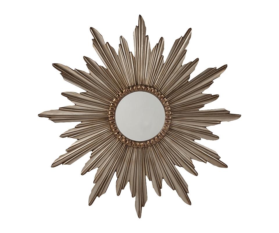 Зеркало-солнце ParadaНастенные зеркала<br>Зеркало Parada — стильный предмет декора интерьера и безусловное его украшение. Оно будет удачно смотреться как в комнате с модной зеркальной мебелью, так и в любой другой обстановке. Изысканная рама, выполненная в виде солнца, придает аксессуару неповторимый и роскошный вид. Представьте себя перед этим роскошным зеркалом — и вы почувствуете, что оно обязательно должно быть в вашем доме.<br><br>Material: Пластик<br>Depth см: 4,5<br>Diameter см: 143,5