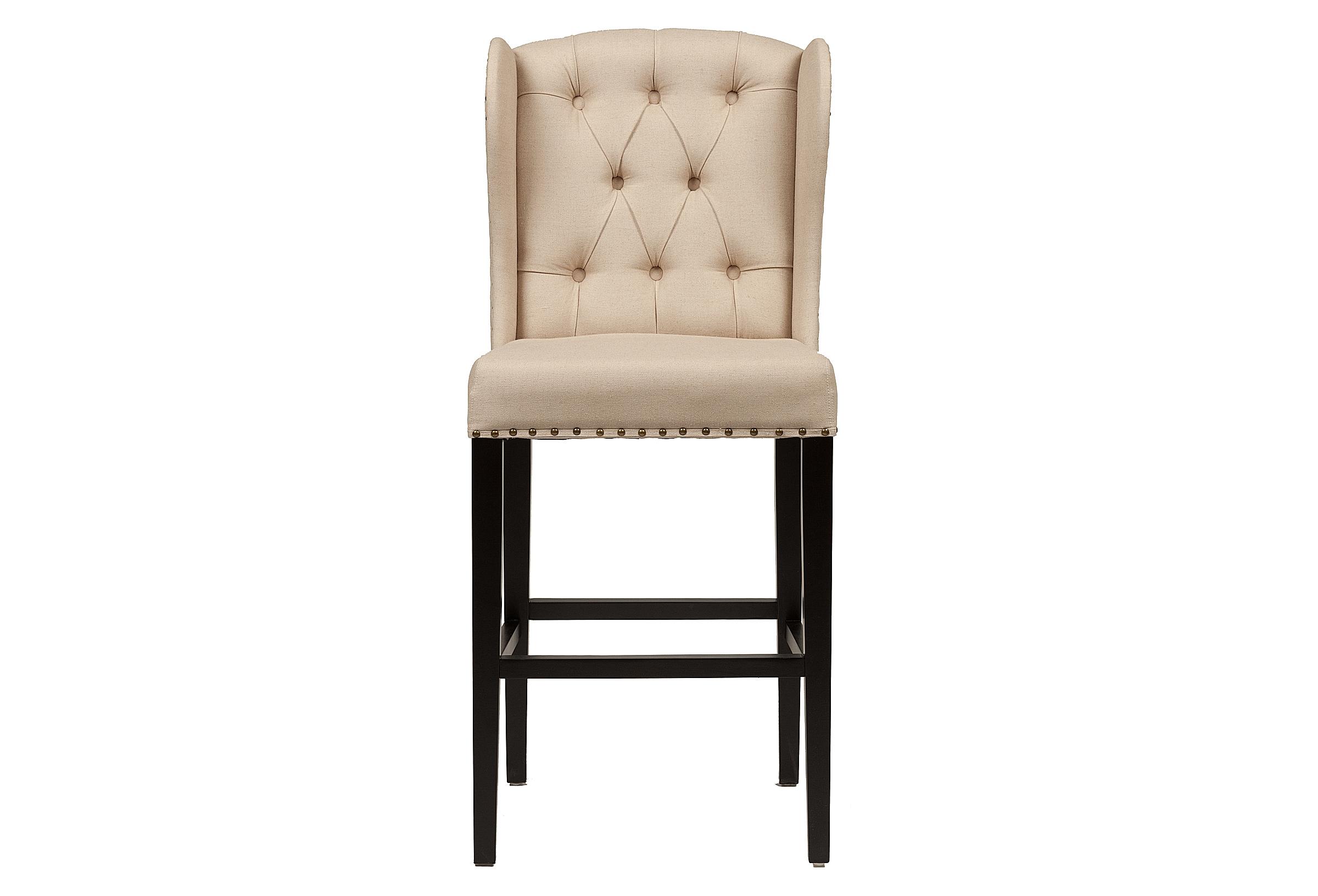 Барный стул Maison BarstoolБарные стулья<br>Стул для бара Maison — это роскошное изделие, которое больше напоминает миниатюрный королевский трон. Стул Maison выполнен из натуральных материалов, что придает ему роскошный вид, ведь сложно придумать более гармоничное сочетание, нежели дерево и мягкая ткань натуральных оттенков. Стул для бара Maison имеет устойчивый каркас из массива берёзы, который обеспечивает удобство и безопасность посадки. Комфортную посадку гарантирует мягкое сиденье и достаточно большая спинка, на которую можно полностью облокотиться. Несмотря на светлую тканевую обивку, стул легко держать в аккуратном виде, так как материал быстро и легко моется. Стул Maison прекрасно впишется в помещение, оформленное не только в винтажном, но и классическом стиле.<br><br>Material: Лен<br>Width см: 46<br>Depth см: 51<br>Height см: 112
