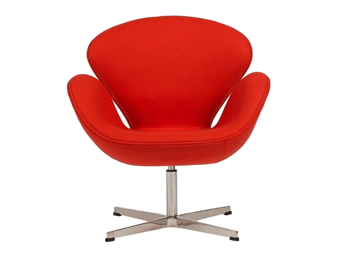 Кресло Swan ChairИнтерьерные кресла<br>Кресло Swan Chair (Лебедь), созданное датским дизайнером Арне Якобсеном (Arne Jacobsen) в 1958 г., стало настоящей сенсацией для своего времени, было достаточно инновационным, т.к. вместо прямых линий предпочтение было отдано округлым формам. Мебель этого дизайнера давно вошла в историю мебелестроения и стало шедевром, мировым достоянием искусства. Элегантная анатомическая форма и небольшие размеры делают его привлекательным элементом оформления любого интерьера и по сей день. Каркас кресла представляет собой литую синтетическую раковину из стекловолокна, покрытую пенополиуретаном. Сидение крепится на вращающемся крестообразном основании из нержавеющей стали.<br><br>Material: Кашемир<br>Width см: 71<br>Depth см: 70<br>Height см: 78