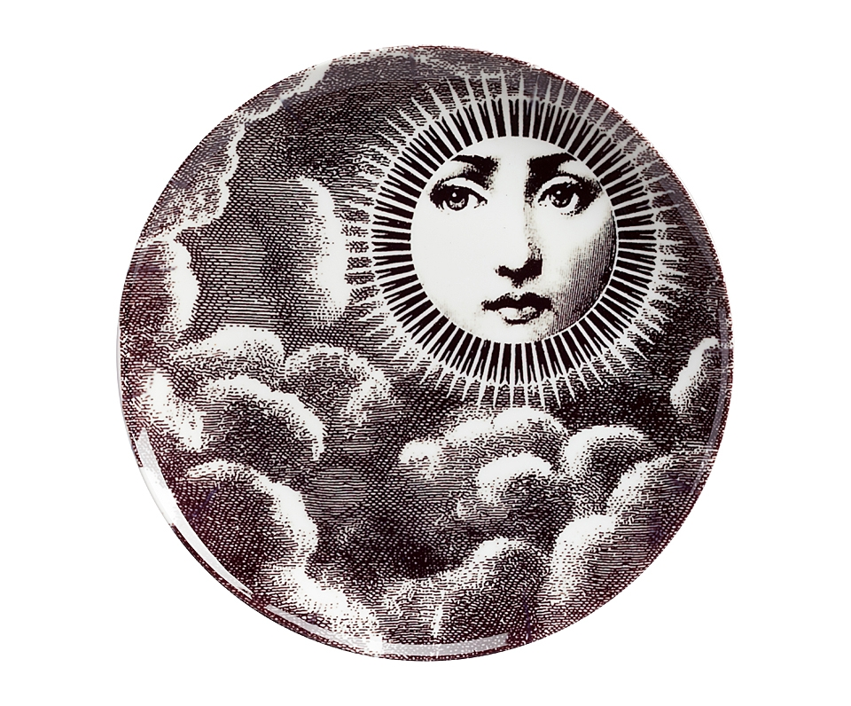 Настенная тарелка Пьеро Форназетти MoonДекоративные тарелки<br><br><br>Material: Фарфор<br>Height см: 2<br>Diameter см: 20,5