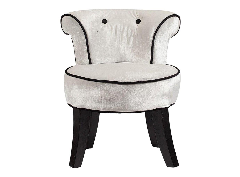 Кресло LoraineИнтерьерные кресла<br>Изысканная модель кресла имеет деревянный каркас из березы и обивку светло-серого цвета из велюра. Благородный дизайн, округлые детали, приятный серебристый цвет обивки из велюра, в сочетании с его темной окантовкой, придают модели особую роскошь, подчеркивает ее шик! Такое кресло украсит и гостиную, и тихую спальню. Сиденье у модели довольно удобное, поэтому любой чувствует себя комфортно в кресле при длительном сидении. Данная модель с особенным дизайном в моменты отдыха доставляет непередаваемое блаженство.<br><br>Material: Текстиль<br>Width см: 48<br>Depth см: 50<br>Height см: 55