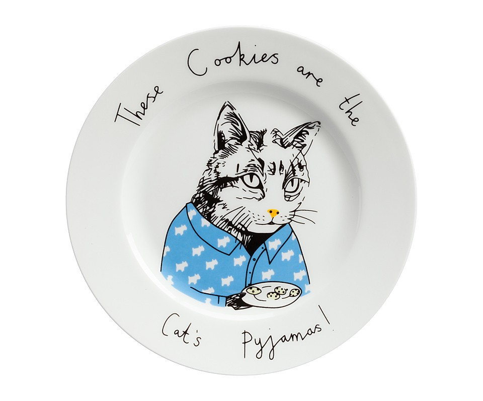 Тарелка These Cookies are the Cats PyjamasТарелки<br><br><br>Material: Фарфор<br>Высота см: 1