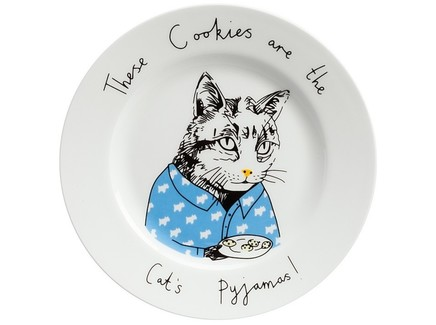 "Тарелка ""These Cookies are the Cat's Pyjamas"""