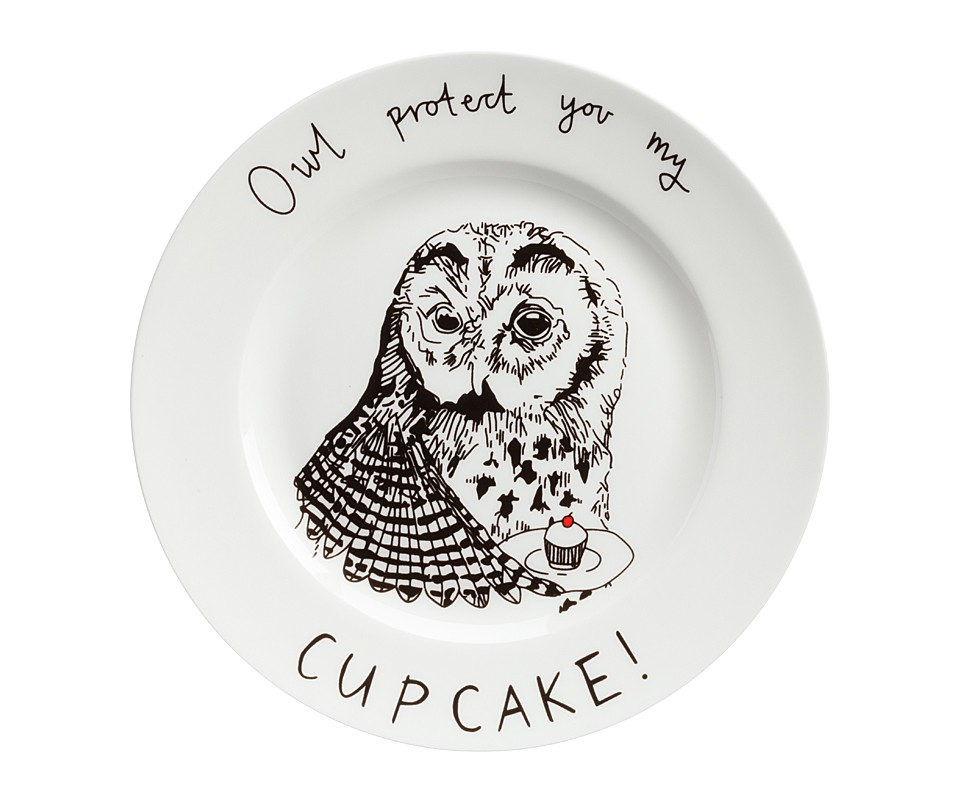 Тарелка Owl protect You My Cup CakeТарелки<br><br><br>Material: Фарфор<br>Высота см: 1