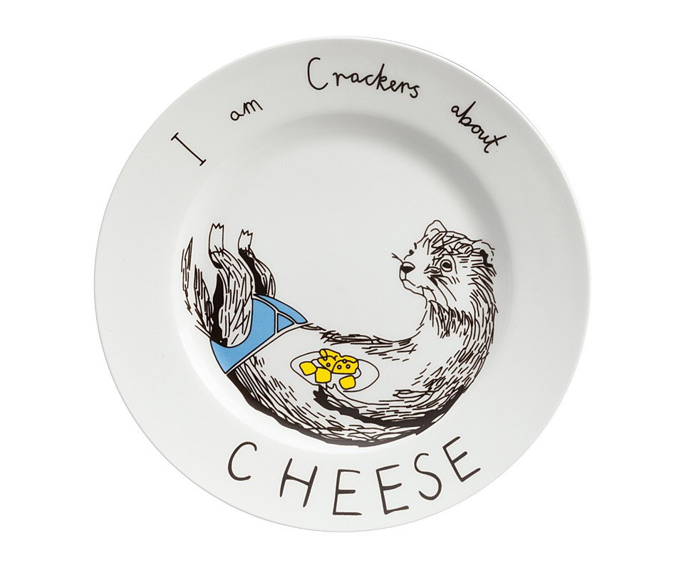 Тарелка I am Crackers about CheeseТарелки<br><br><br>Material: Фарфор<br>Высота см: 1