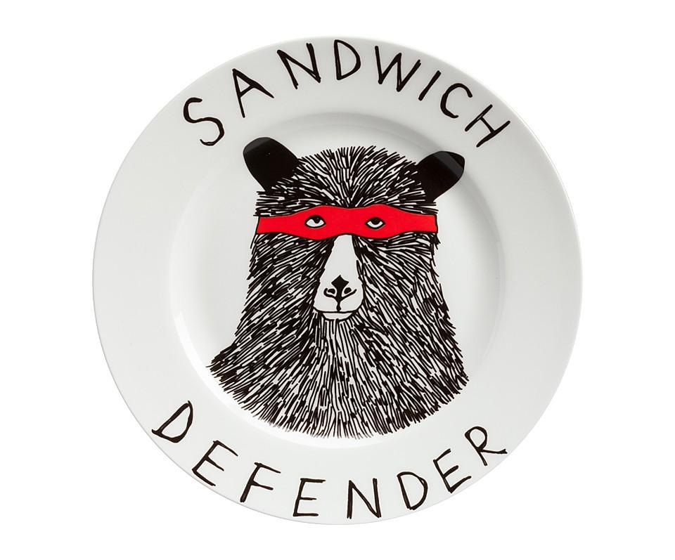 Тарелка Sandwich DefenderТарелки<br><br><br>Material: Фарфор<br>Height см: 1,7<br>Diameter см: 21